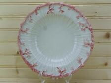 Fitz & Floyd Oceana Rimmed Soup Bowl 1977 Pink Coral Edge DISCONTINUED USA