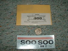 Miller Herald King decals HO C-100 Soo Line white caboose red Cupola  G137
