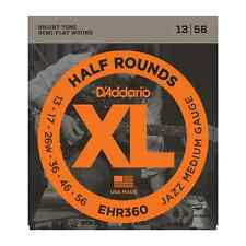 D'Addario EHR360  Half Round Jazz Medium Electric Guitar Strings .013--.056