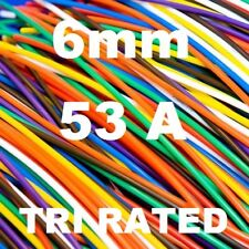 5 METRES TRI RATED 6mm RED CABLE 84/0.30, 6.0mm 5M PANEL SWITCH WIRE