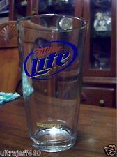 Miller Lite Pint Beer Glass plus t shirt Lg
