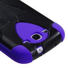 SAMSUNG GALAXY S3 III INVERSE HYBRID CASE W/ KICKSTAND BLACK/PURPLE