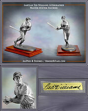 GARTLAN BOSTON REDSOX TED WILLIAMS PEWTER AUTOGRAPHED FIGURINE NEW IN BOX