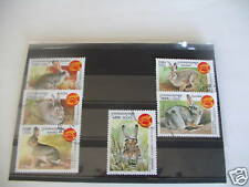 ******TIMBRES  LAPINS : SERIE COMPLETE DU CAMBODGE 1999 ******