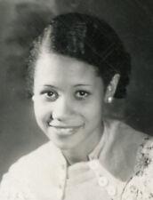 ANTIQUE 1930s BEAUTIFUL AFRICAN AMERICAN WOMAN  MEMPHIS TN WATCH TIMEPIECE PHOTO