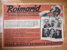 WWII Anti-American Anti-Roosevelt Propaganda Poster in Estonia. Al Capone 1940s.