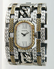 Chico's Women's Antique Two-Tone Wide Bangle Watch CH-407. New and unworn.