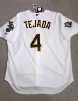 Rare Authentic Miguel Tejada 2001 Rawlings On-Field Oakland A's Jersey 52 NWT