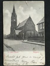 Vintage Postcard - Devon #A55 - RP St Luke's Church, Kingston - 1904