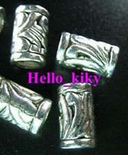 60 Pcs Tibetan silver ornate tube spacers beads A276
