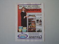 advertising Pubblicità 1968 FRIGORIFERO ARISTON POLARE