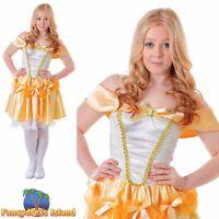 BELLE BEAUTY PRINCESS FAIRYTALE GIRLS Age 11-13 Womens Teen Fancy Dress Costume