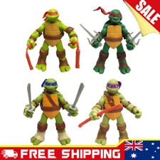 4x Teenage Mutant Ninja Turtles Action Figures Cake topper Boy KidsToy figurines