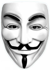 Anonymous Vinyl Window Sticker 12x8cm political guy Fawkes protest conspiracy