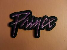 """PRINCE PURPLE RAIN"" black & PURPLE  Embroidered 2-7/8 x 4-3/4 Iron On  Patch"