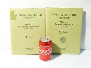 1980 English Hammered Coinage Volumes 1 & 2 - c600-1662 by J.J. North h/b