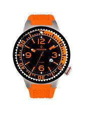 POSEIDON Unisex-Armbanduhr S Analog Silikonband UP00417 Orange/Schw. UVP 119,- €
