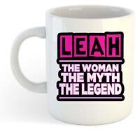 Leah - The Woman , Myth , Leyenda Taza - Nombre Personalizado de Moda Regalo
