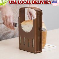 Breakfast Bread Toast Slicer Loaf Sandwich Slicer Cutter Mold Slicing Tool US