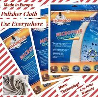 8 X Nano Microfiber CLEANING Cloth Only Water STREAK FREE NO Detergent Towel