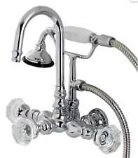 Kingston Brass AE8T1W Celebrity Wall Mount Tub Filler Hand shower New Claw Foot