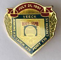 Veeck Jenkins Carew Perry Lazzeri Hall Of Fame 1991 Baseball Pin Badge (G10)