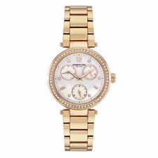 Kenneth Cole Ladies KC50735008 Gold-Tone Multi Function Watch w/ MOP #57 (5714)