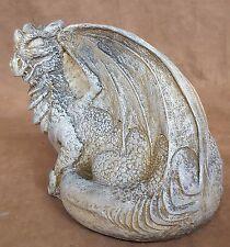 Antique Finish Mythical Dragon Sculpture Statue Gothic Art