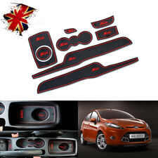 8 pcs For Ford Fiesta MK VI 2008 ~ 2014 Gate slot mats Accessories 3D Rubber Mat