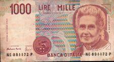 BANCONOTA ITALIANA DA 1000 LIRE MONTESSORI SERIE NE SC-7