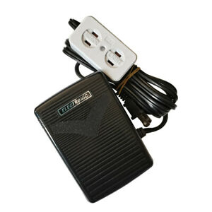 Home Sewing Machine Foot Control Pedal with Cord and Light + Motor Block #FC-143