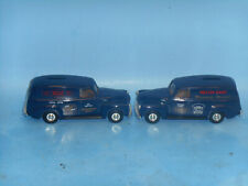 Pair of ERTL 1/43 1951 GMC van bank--Melvin Nash Motors