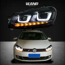 FOR VW VOLKSWAGEN GOLF6 2010-2014 LED PROJECTOR HEADLIGHT ASSEMBLY BLACK HOUSING