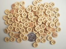 50 IMITATION WOOD BUTTONS SIZE 12mm