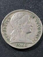 Columbia 1946  Republic  5 centavos  copper-nickel  21mm  circulated coin...
