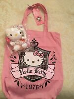 TY Hello Kitty Lollipop Soft Beanie Toy & Hello Kitty Pink Tote - BNWT