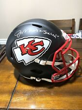 """Joe Montana Autographed Kansas City Chiefs Black Matte Helmet Tristar """"Joe Cool"""""""
