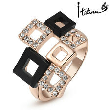 8K Real Gold Plated Square Ring Geometry Style Top Quality