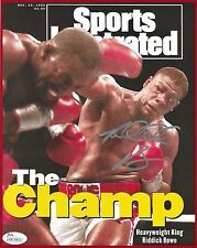 RIDDICK BOWE SIGNED 16x20 PHOTO - SI COVER -  vs. HOLYFIELD - 11/23/1992 - JSA