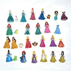 Disney Princess Magiclip Magic Clip Glitter Glider Lot of 20 Dolls Accessories