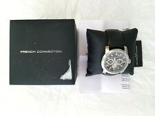 "French Connection Men""s Quartz Watch FC1190B w/Black Dial Analogue Display  FS"