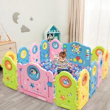 14 Paneele Laufgitter Baby Laufstall Tür&Spielzeugboard Absperrgitter Spielzaun