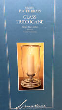 """Dillards Hurrican Nickel-Plated Brass Candle Holder 17.25"""""""