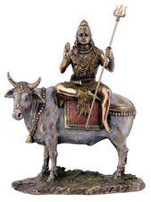 Shiva Statue Hindu Deity Lord Shiva on Nandi the Bull Faux Bronze Statue #3271