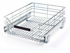 Drawer Kitchen Wire Sliding Storage Shelf Rack Steel Cabinet Organizer Holder