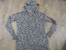 HOLLISTER schöner melierter Pullover m. Kapuze grau weiß Gr. M/L TOP  KB1117