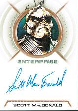STAR TREK ENTERPRISE SEASON 3 AUTOGRAPH CARD A26 SCOTT MACDONALD AS XINDI