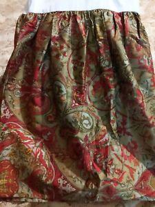 RALPH LAUREN Randolph Red Paisley Queen Bed Skirt New