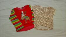Ladybird Girls Pack Of Two T-Shirts In Multi Size 4-5 Years FREE UK P&P
