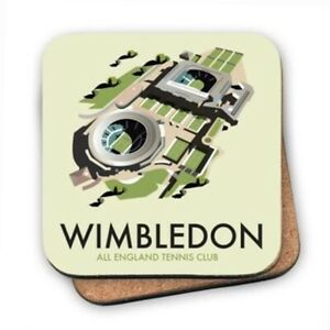 Wimbledon All England Tennis Club  cork backed drinks coaster  (se)
